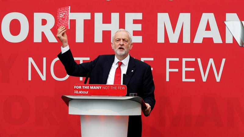 Jeremy Corbyn's Labour hits highest rating of campaign after manifesto launch