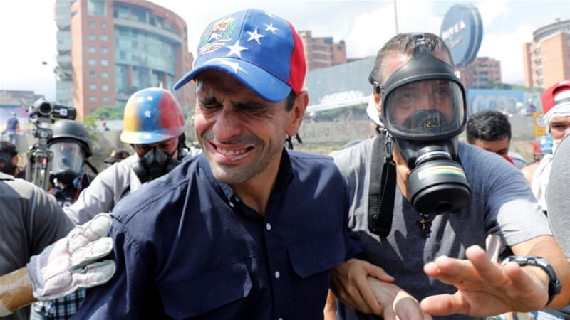 Venezuela's Capriles says he was blocked from UN trip