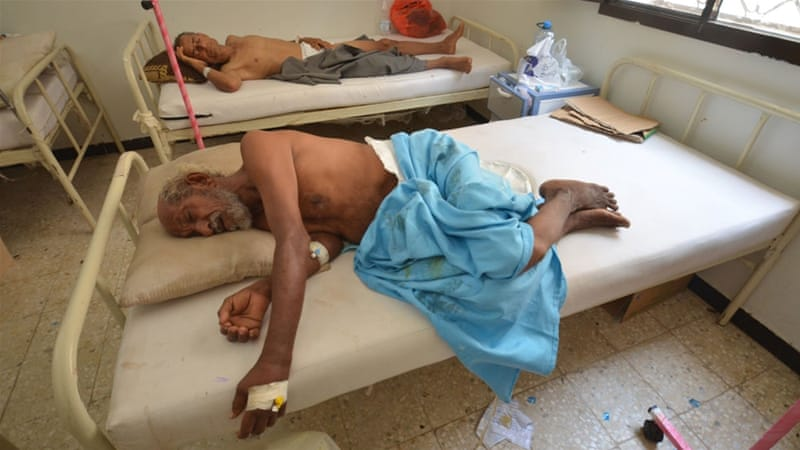 Yemenis are suffering from a significant lack of food, clean water, and medications [Abduljabbar Zeyad/Reuters]