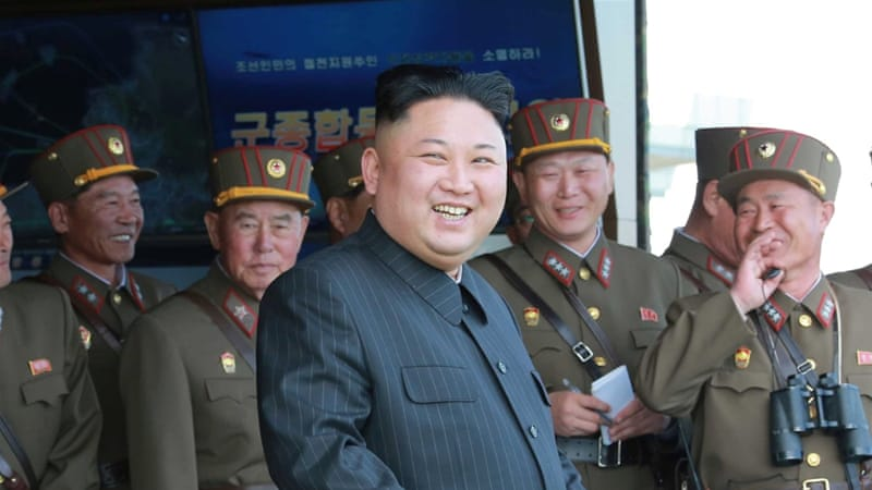 North Korea claimed the US and South Korea have been plotting to assassinate Kim Jong-un [KCNA/via Reuters]