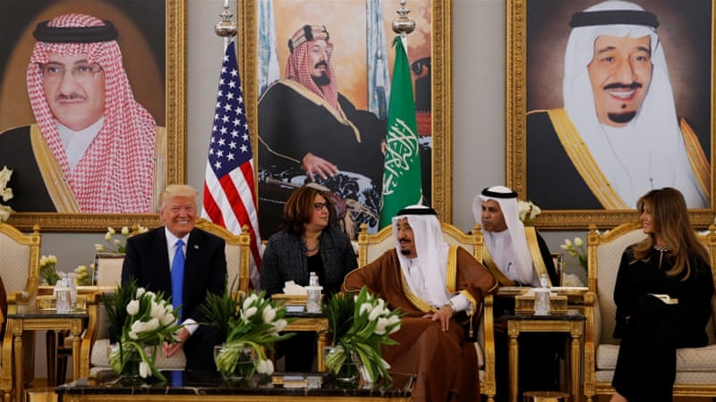 """Trump will meet with more than 50 Arab and Muslim leaders on Sunday to discuss the battle against """"terrorism"""" [Jonathan Ernst/Reuters]"""