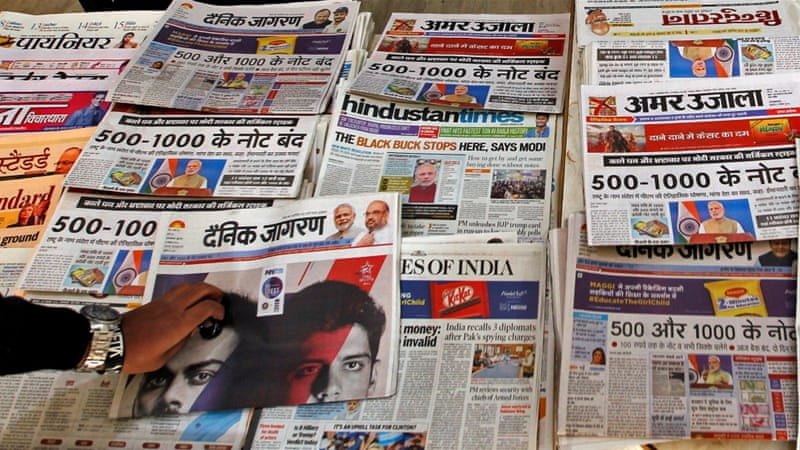 Media in India is dominated by the upper castes, writes Mondal [Reuters/Jitendra Prakash]