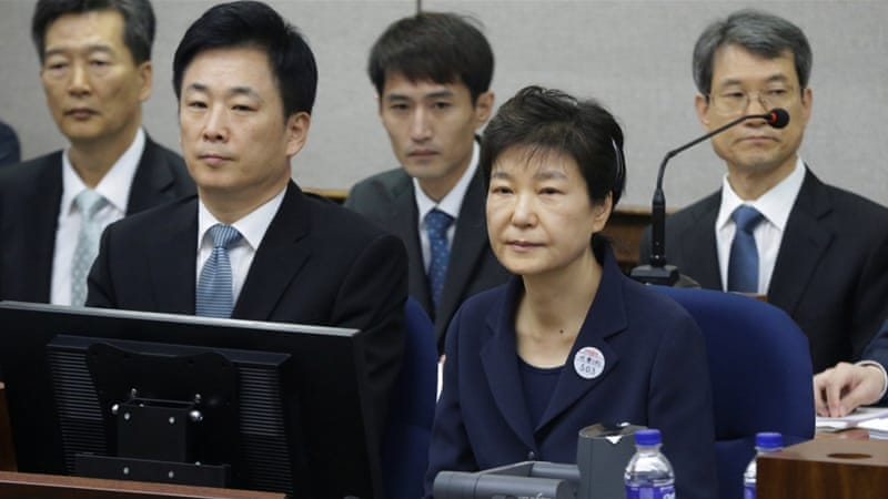 Park is currently facing a corruption trial over a scandal that ignited mass protests and led to her downfall [Reuters]