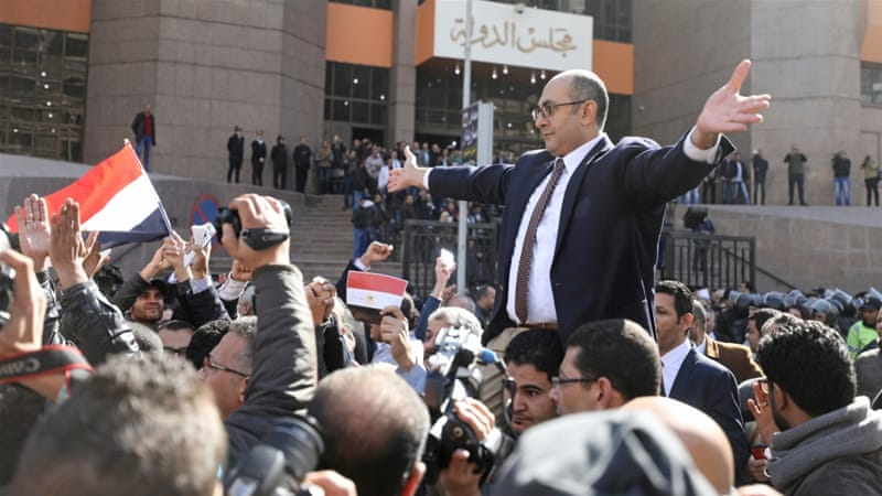Ali reacts to the ruling which challenged the government for handing over islands to Saudi Arabia [File: Mohamed Abd El Ghany/Reuters]
