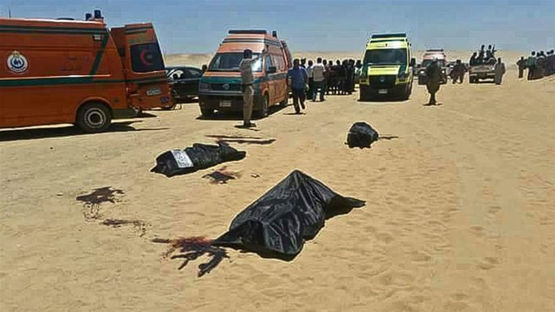 Coptic Christians killed in Egypt, including childred
