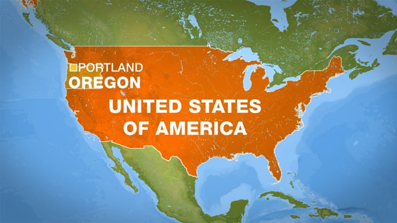 Two Killed On Portland Train After Defending Muslims USA News - Portland on us map