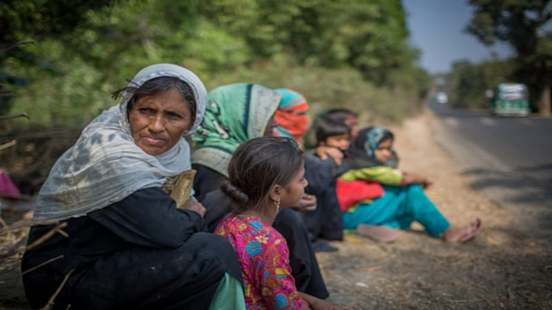 Around 75,000 have fled Rakhine state since the military began a security operation last October [Turjoy Chowdhury/NurPhoto via Getty Images]