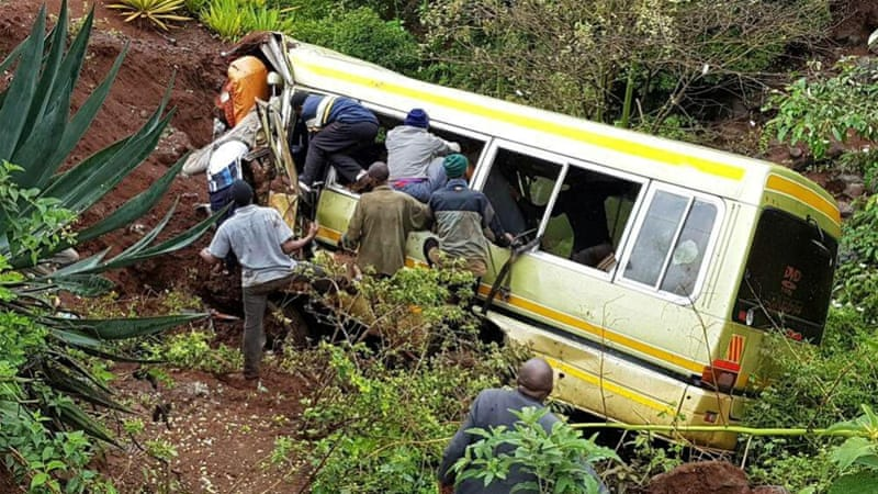 Tanzania bus crash: Dozens of pupils killed in Arusha