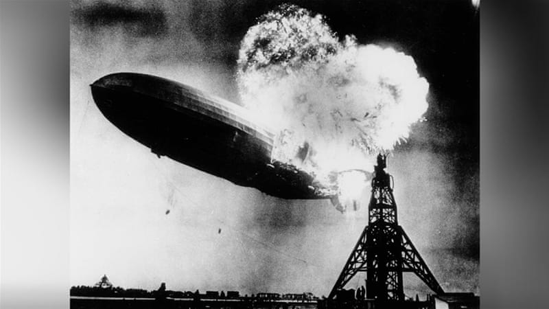 Only one person is left of the 62 passengers and crew who survived the Hindenburg crash [AP]