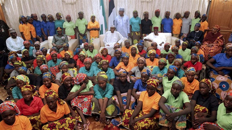 Just In: President Buhari Receives Chibok Girls At Aso Rock