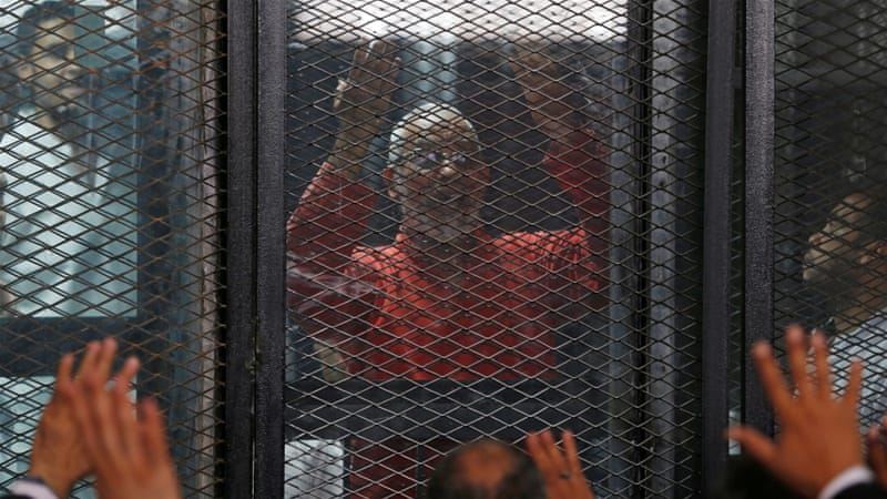 Muslim Brotherhood's leader Mohamed Badie was sentenced to life [File/Reuters]