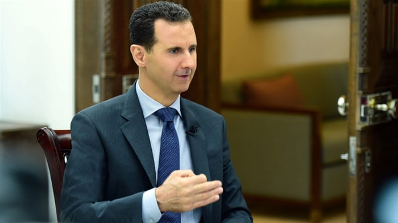 Bashar al-Assad's regime has received military and diplomatic support from Iran and Russia [Reuters]