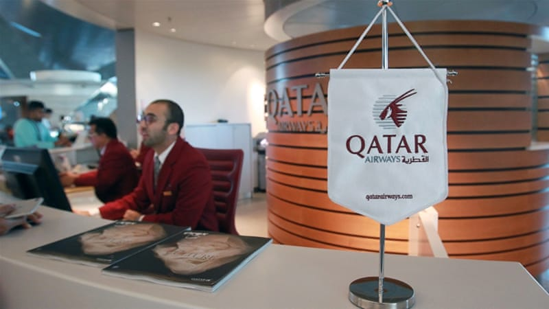 Qatar Airways flies to more than 150 global destinations from its Doha hub [Naseem Zeitoon/Reuters]