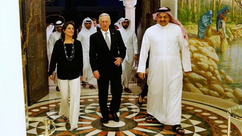 Shell Smith (left) was appointed ambassador to Qatar in 2014 [Jonathan Ernst/Pool/AP]