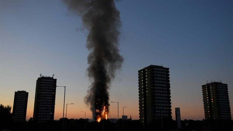 The London Fire Brigade said 200 firefighters were battling the blaze