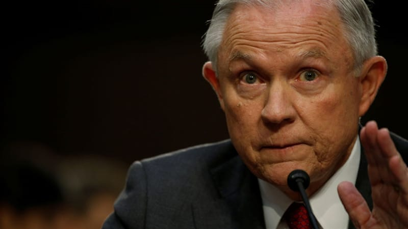 Jeff Sessions calls Russia claims a 'detestable lie'