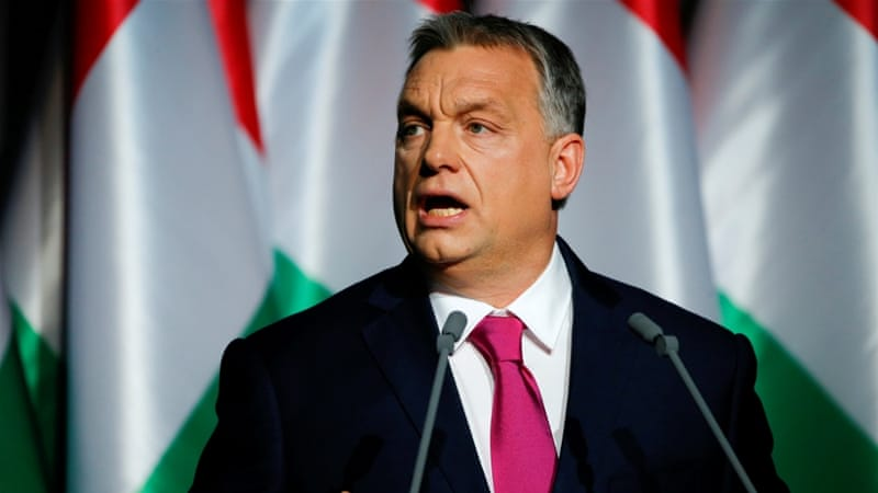 Hungary has threatened to block Ukraine's membership of the EU and NATO [File:Laszlo Balogh/Reuters]