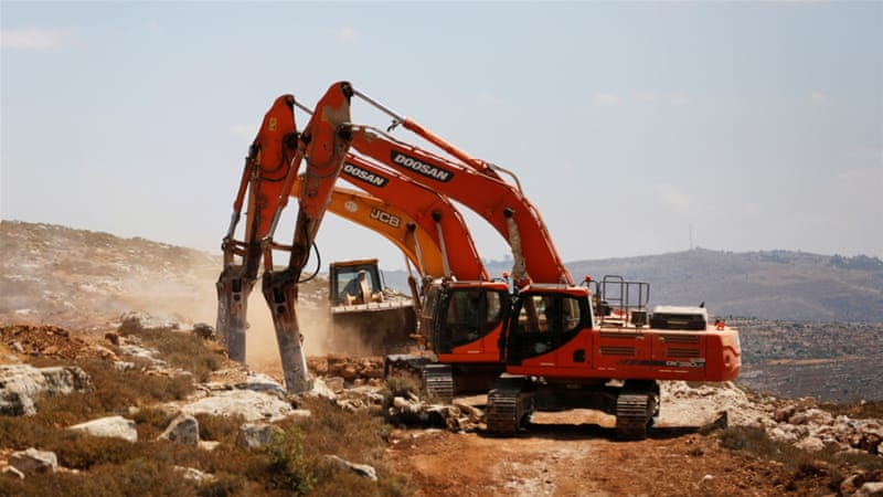 The new settlement is being constructed close to the city of Ramallah [Reuters]