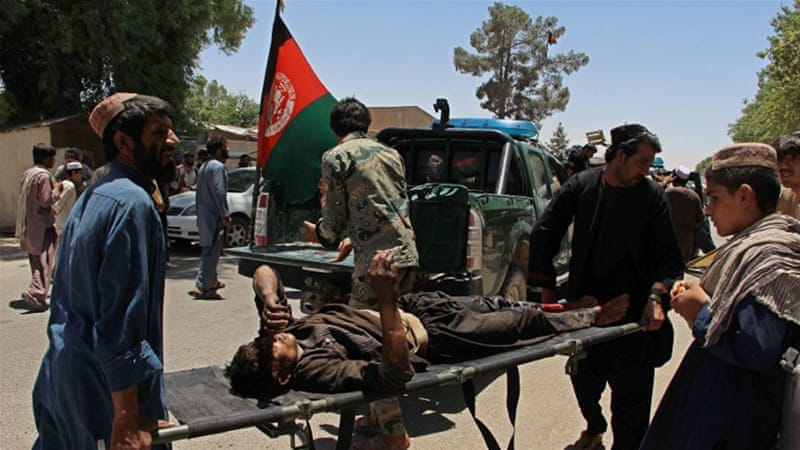 Most of the casualties were civilians, according to Helmand governor [Noor Mohammad/AFP]