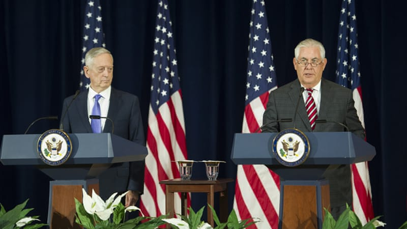 Tillerson and Mattis to hold joint news conference after talks with China