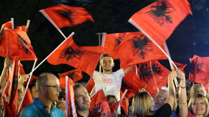 Albania votes in election seen as key toward EU
