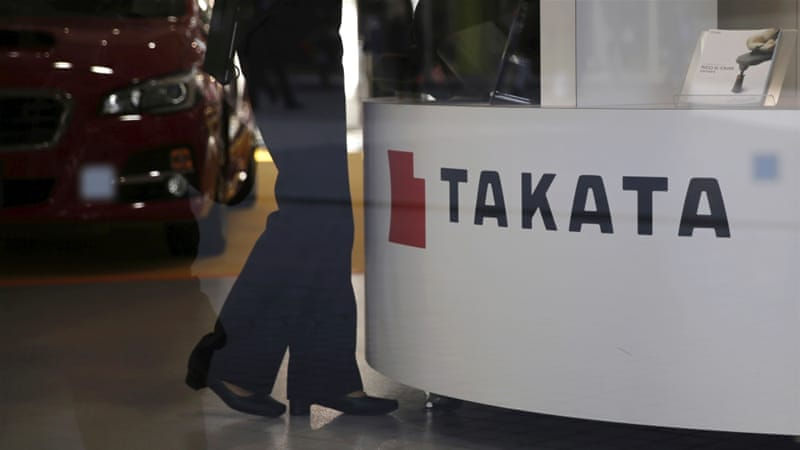 Japan's Takata apologizes to victims of faulty air bags
