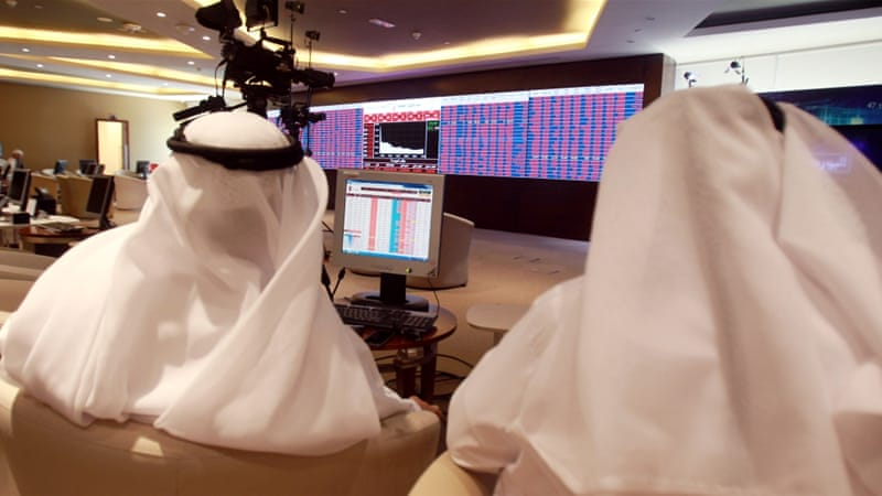 Qatar's stock market plunged 7.6 percent on Monday morning