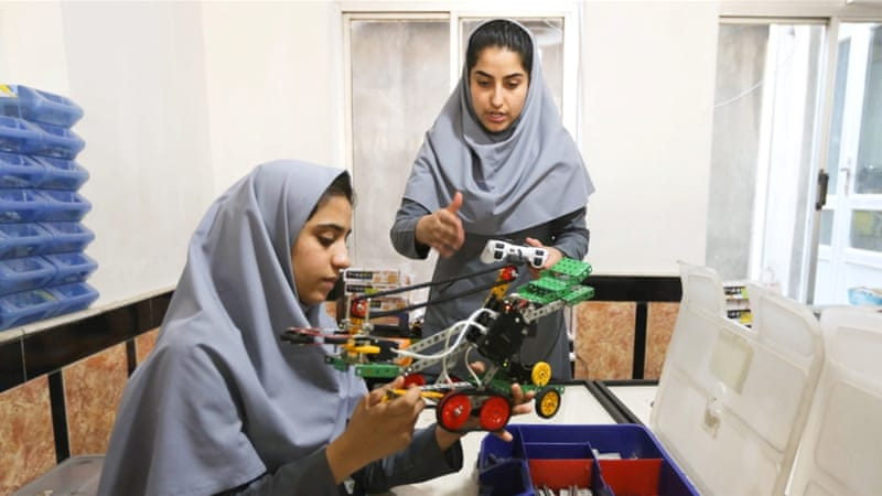 Members of the Afghan robotics girls team twice travelled 800 kilometres in vain to the US embassy to apply for visas [Mohammad Shoib/Reuters]
