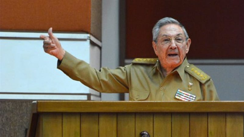 Raul Castro participates in the Permanent Working Committees of the National Assembly of the People's Power in Havana [Jorge Beltran/AFP]