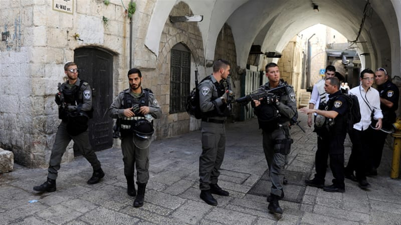 Hundreds of Israeli security forces were deployed to the area after the dramatic shootout.