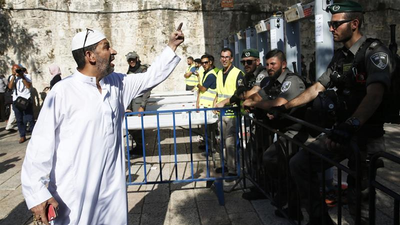 Palestinians reject Israel security measures in al-Aqsa