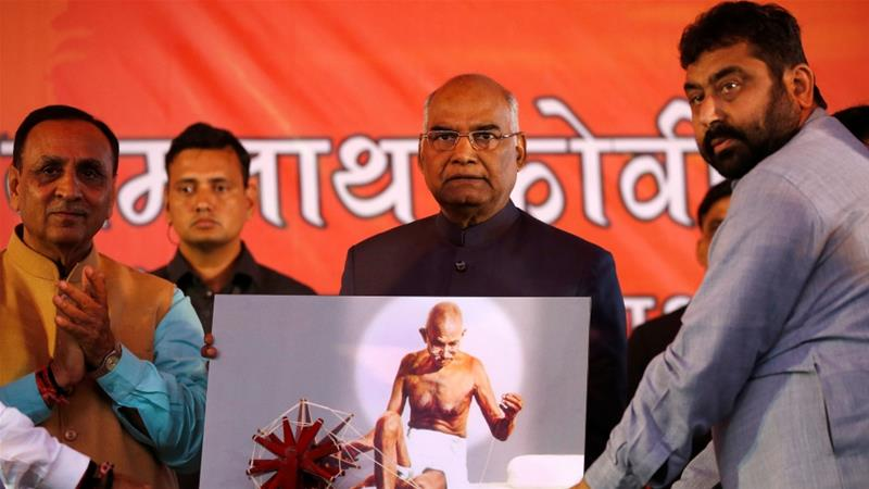 Ruling BJP candidate Kovind is predicted to win on July 20 [Amit Dave/Reuters]