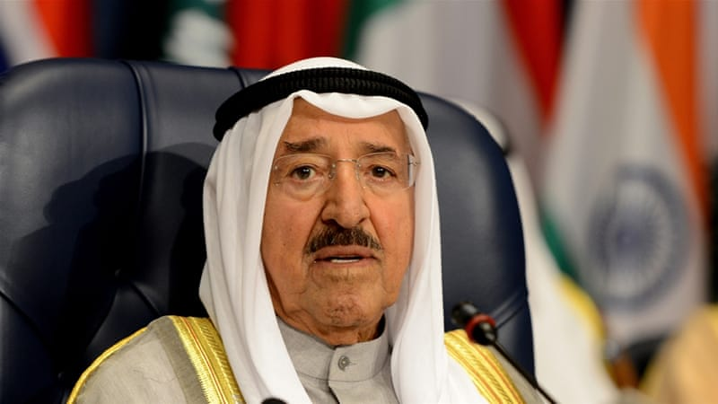 "KUNA reported in August that the emir had ""recovered from a setback and is in good health now"" [Raed Quietena/EPA]"