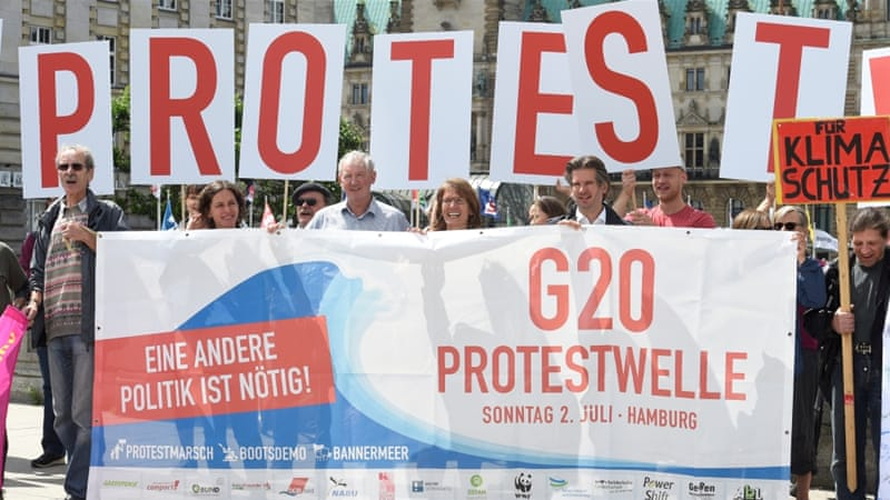 G20 summit: Germany expects 8000 violent protesters in Hamburg