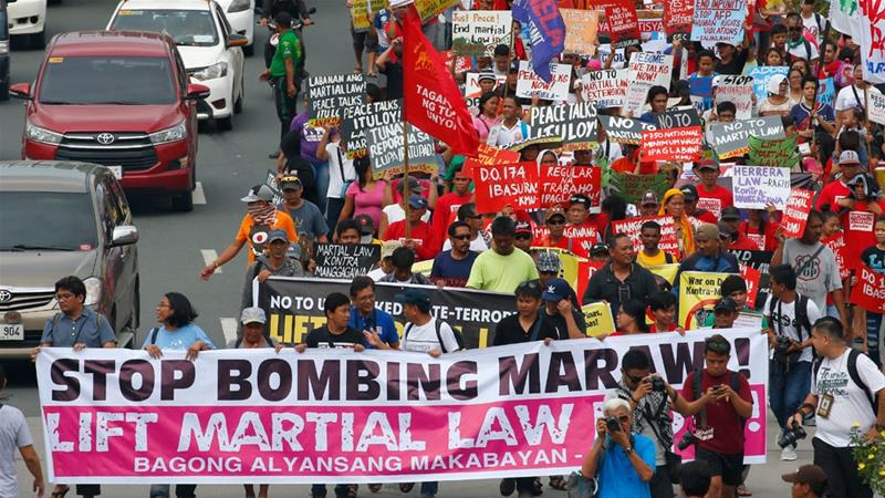 Martial law to be extended in Philippine's Mindanao