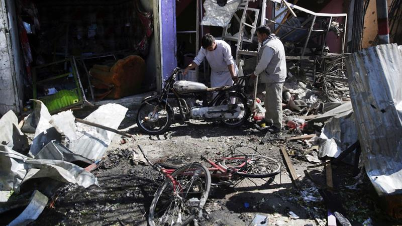 Suicide car bomb hits Kabul Afghanistan
