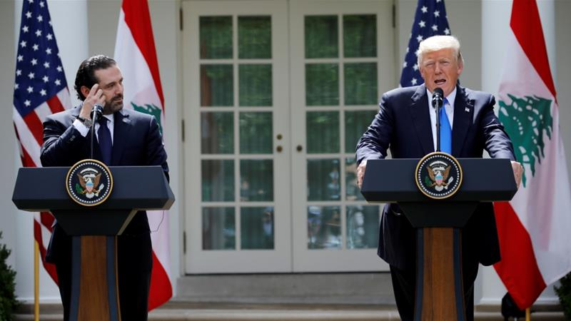 Trump welcomes Lebanese prime minister Hariri to White House