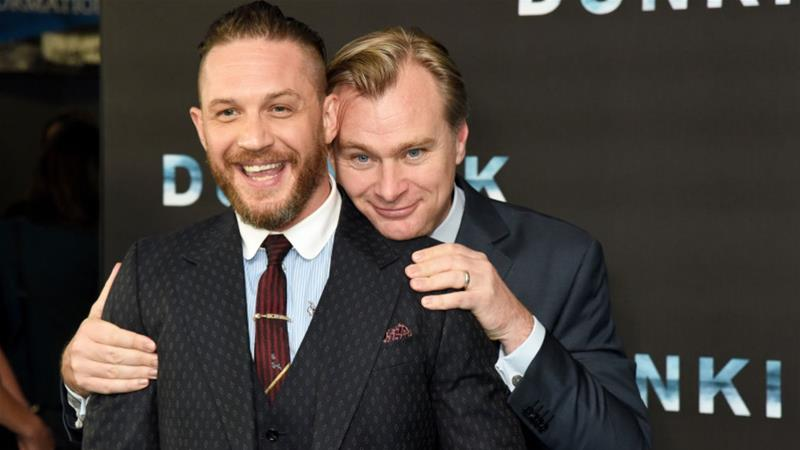 Actor Tom Hardy and director Christopher Nolan attend the preview screening of Dunkirk at BFI Southbank in London, England [Dave J Hogan/Getty Images]