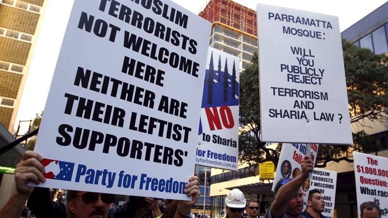 A number of anti-Islam protests have been held across Australia against migrants in recent years [File: Reuters]