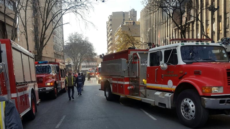 Seven die in downtown Johannesburg building blaze