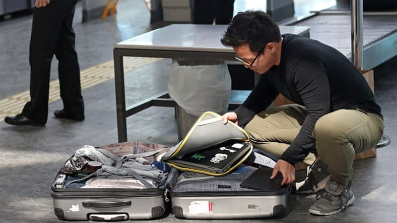 The US imposed a laptop ban on flights from 10 countries in March