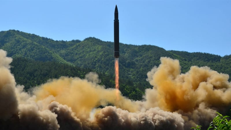 File photo of North Korea's Hwasong-14, an intercontinental ballistic missle [KCNA/Reuters]
