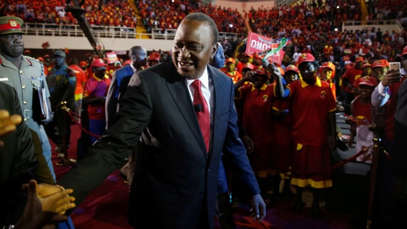 Kenyatta has been in power since 2013 [Baz Ratner/Reuters]