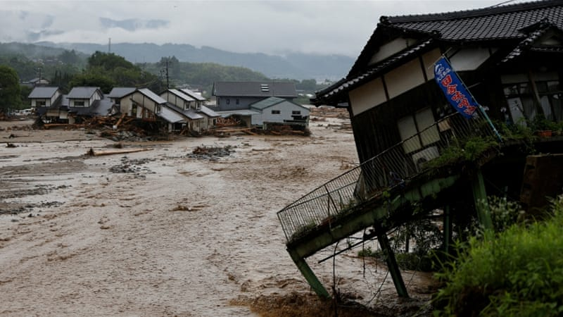 Deadly Floods Spawned by Typhoon-hit Japan