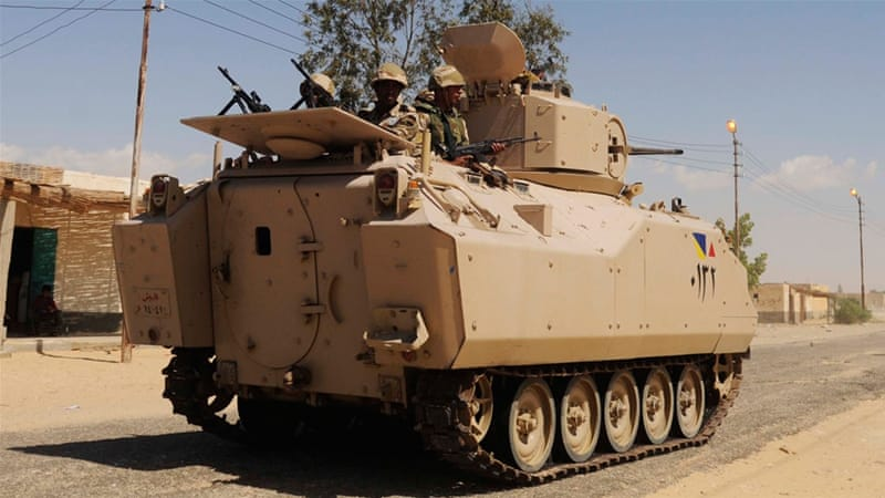 Egypt army kills 40 militants after check point attack