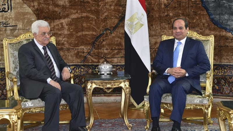 Abbas met with Sisi to seek clarifications on what appears to be a developing agreement between Egypt and the Hamas group [AP]