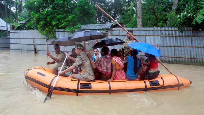 Hundreds have died across India in torrential rain floods and landslides since the onset of the wet season in April
