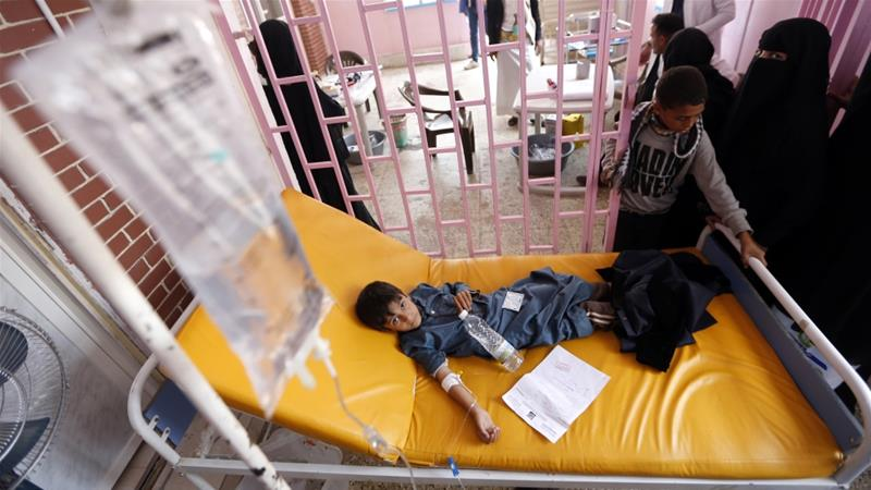 Yemen facing 'triple tragedy' of conflict, cholera, famine, United Nations says