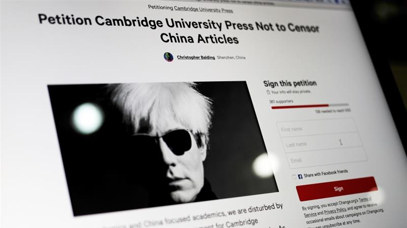 Scholars: Refuse to bow down to China censorship pressure