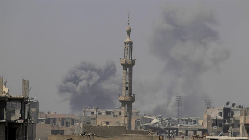 Dozens killed in airstrikes on Syrian city of Raqqa